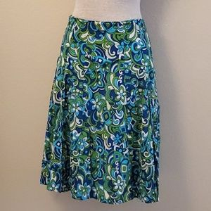 George blue green layered skirt 12